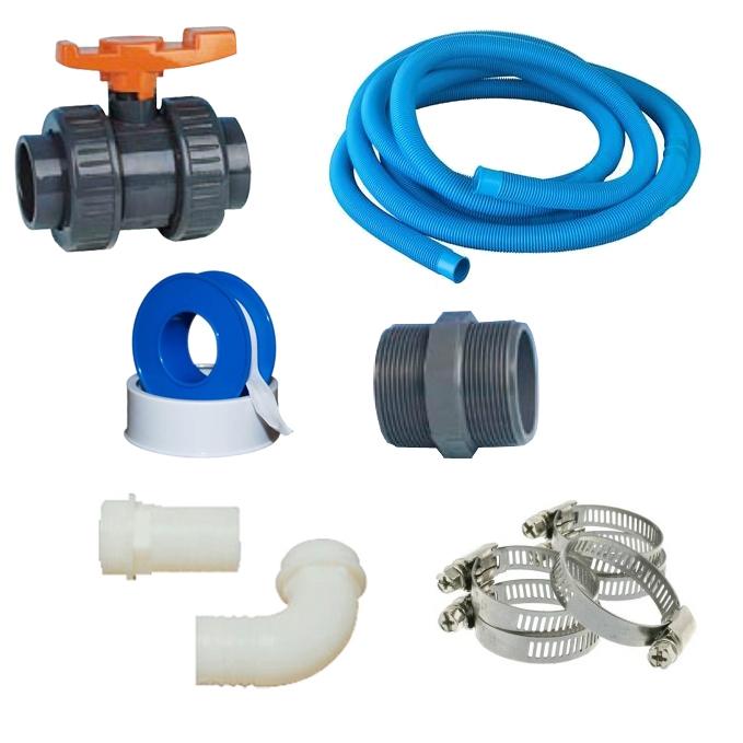 Kit collegamento easy1 per piscine fuori terra con 1 for Kit piscina fuori terra