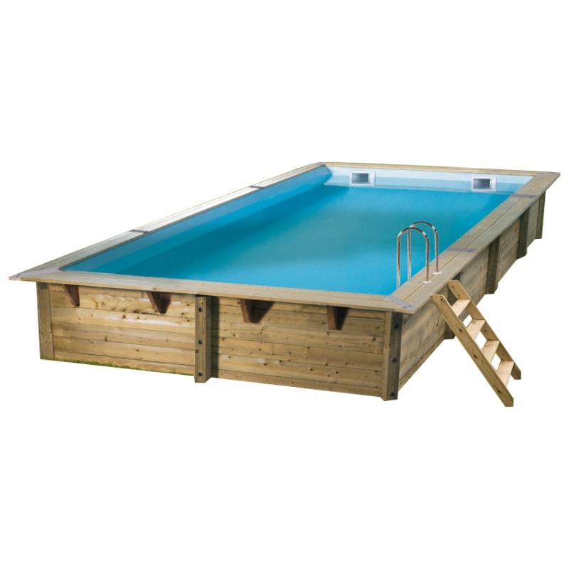 Piscina in legno northwood 650 6 50 x 3 50 h1 40 m for Piscina 50 m