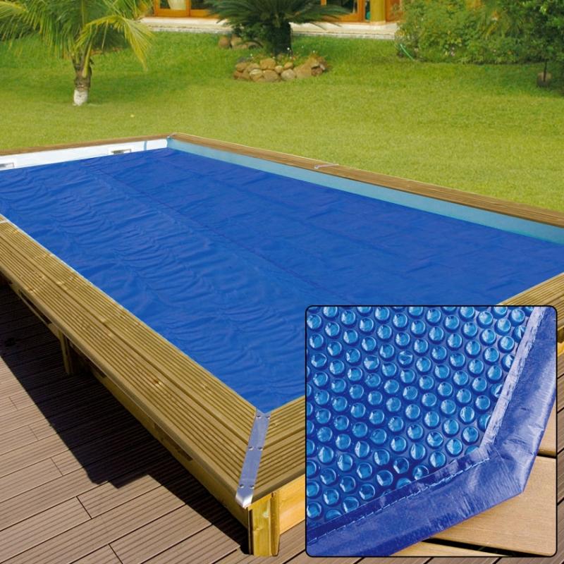 Copertura isotermica a bolle per piscina in legno for Coperture per piscine fuori terra intex