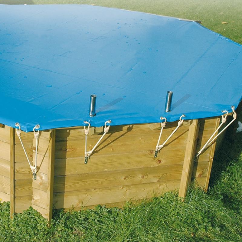 Copertura invernale per piscina in legno rettangolare  BSVillage.com