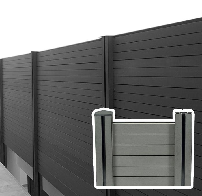 Recinzione in wpc legno composito da esterno - Recinzione terrazzo ...