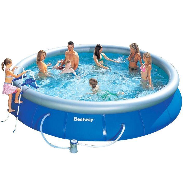 Piscina fuori terra bestway fast set rotonda 4 57 x h 0 - Manutenzione piscina fuori terra bestway ...