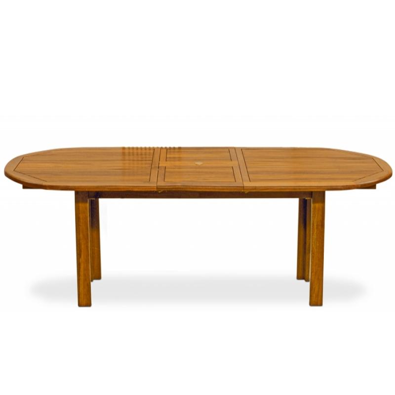 Tavolo allungabile fiordaliso in legno di eucalipto for Tavolo 140x80 allungabile legno