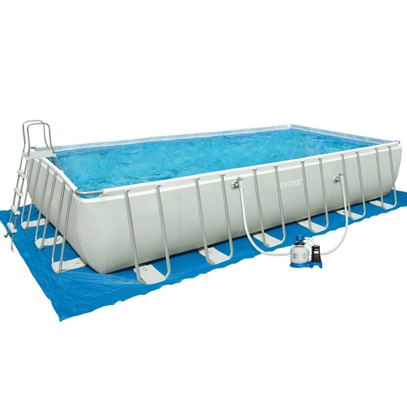 Piscina intex ultra frame 7 32 x 3 66 h 1 32 m for Piscine intex 3 66