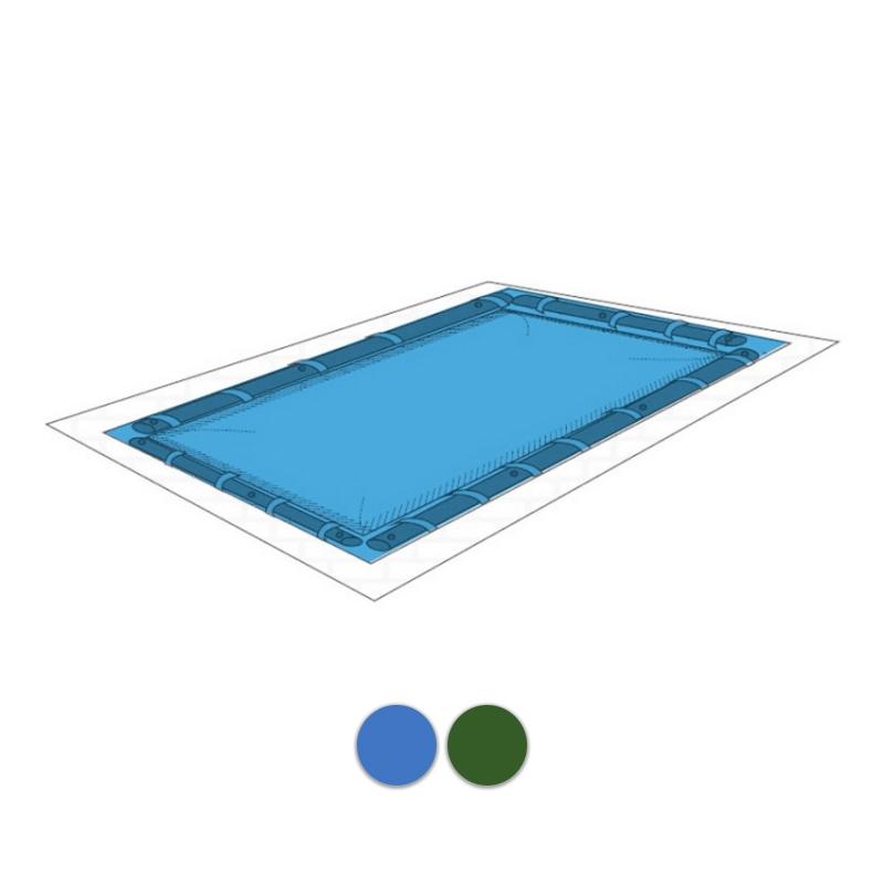 Copertura per piscina 240gr geocover plus con bretelle porta salamotti - Salsicciotti per piscina ...