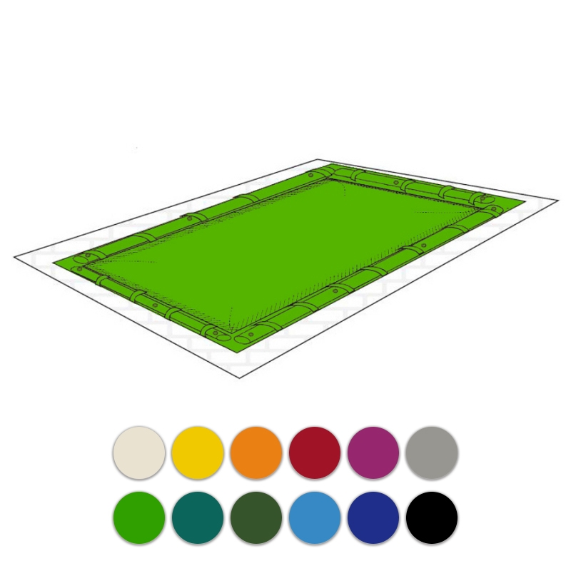 Copertura per piscina polartex color 650 pvc con aggangio salamotti - Salsicciotti per piscina ...