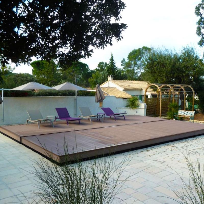Copertura di sicurezza per piscina coverwood a terrazza for Piscina per terrazzo