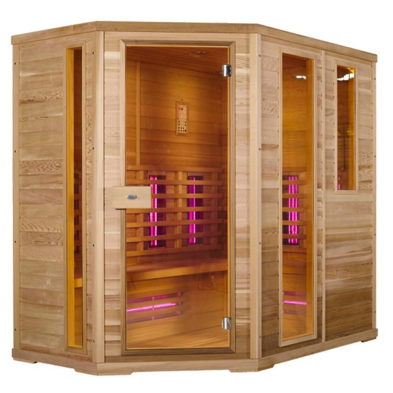 Sauna a infrarossi AURORA 6/7 posti ad Angolo  BSVillage.com