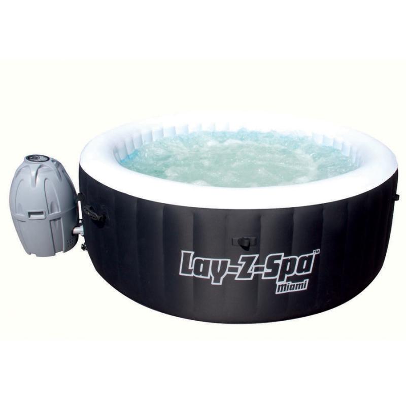 Piscina spa idromassaggio gonfiabile lay z miami bestway per 4 persone - Piscina spa gonfiabile ...