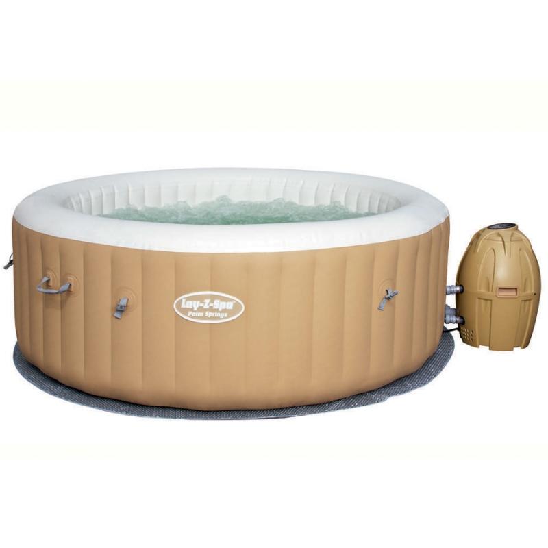 Spa idromassaggio gonfiabile lay z palm spring bestway 4 6 persone - Piscina spa gonfiabile ...