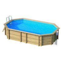 Piscina in legno NaturalWood 640 - 644 x 404 x h.146 cm