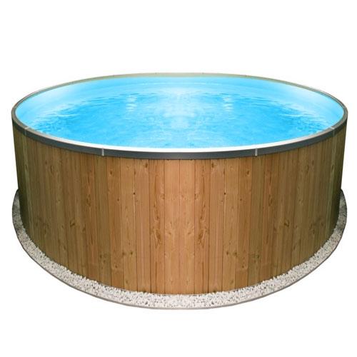 Piscina fuori terra clio wood 1 50 h 0 90 m for Piscina h 90