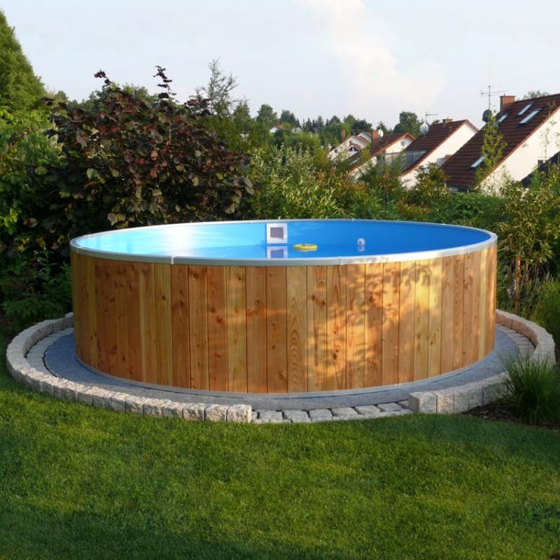 Piscina fuori terra steel wood 5 00 h 1 20 m for Costo per costruire una piscina olimpionica