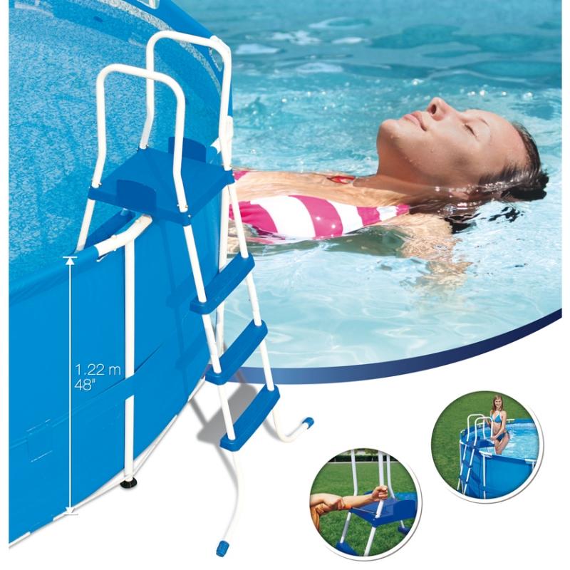 Scaletta piscina fuoriterra bestway cm 3 gradini - Misure piscina bestway ...