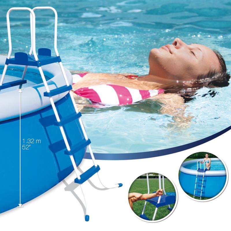 Scaletta piscina fuoriterra bestway cm 4 gradini for Piscina h 132