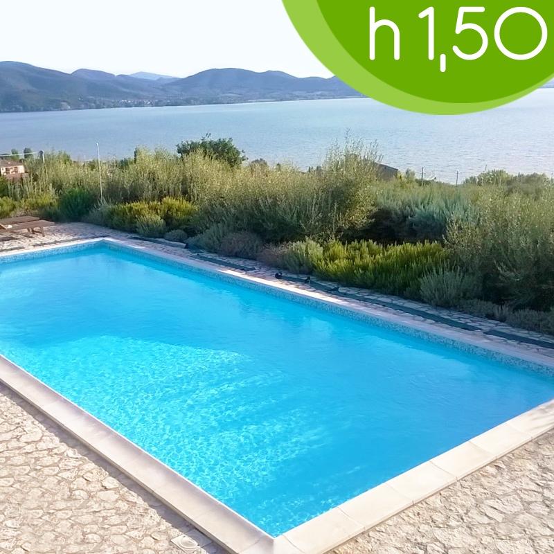 piscina interrata in casseri blokit 6 x 3 h1 50 m