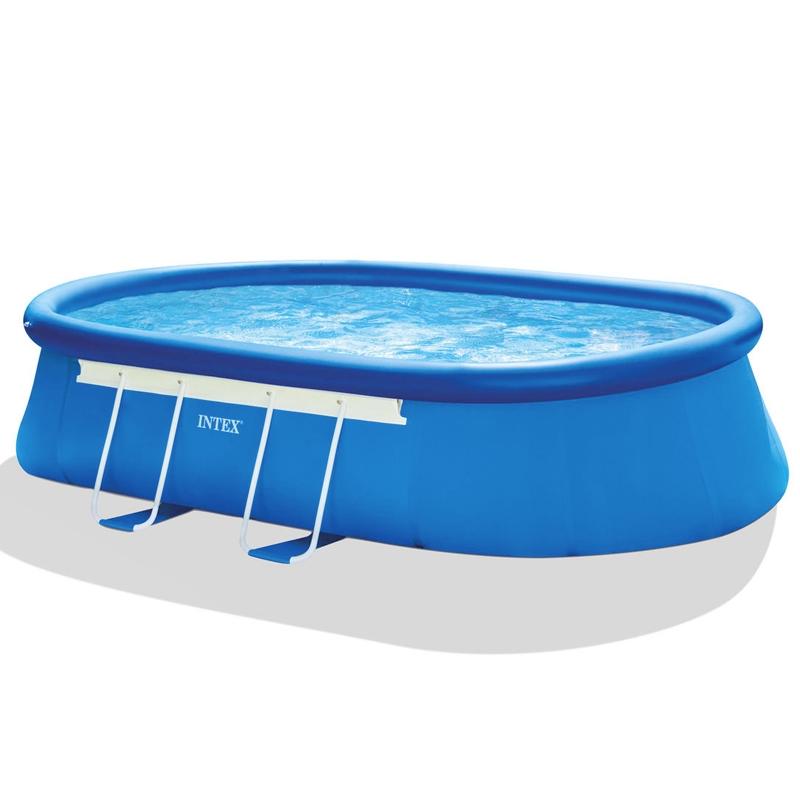 piscina intex frame ellipse fuori terra 6 10 x 3 66 h 1 22 m. Black Bedroom Furniture Sets. Home Design Ideas