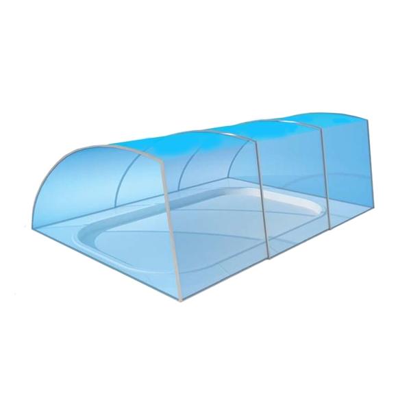 Copertura telescopica per piscina CHICAGO - a muro dritto  BSVillage.com