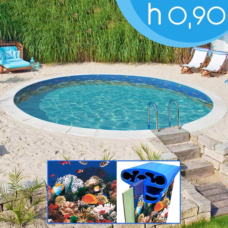 Piscina interrata circolare maya 360 3 60 h 0 90 m for Liner piscine 3 60 x 0 90