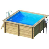Piscina in legno NaturalWood SQUARE - 3,53 x 3,53 x h 1,20 m