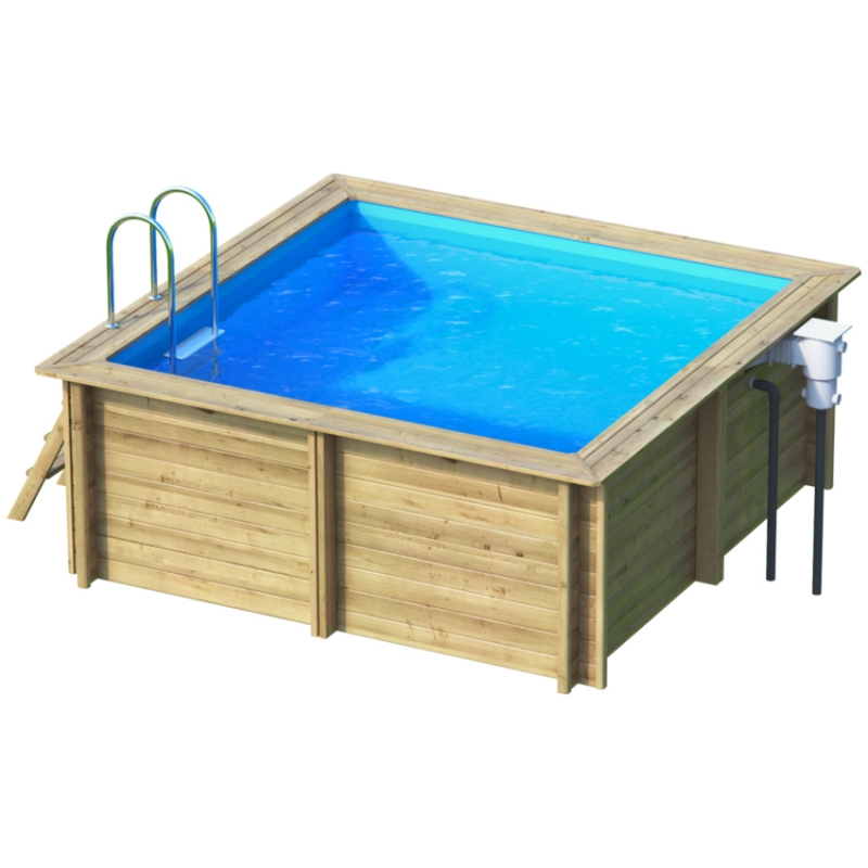 Piscina in legno NaturalWood SQUARE - 353 x 353 x h120 cm
