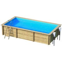 Piscina in legno NaturalWood RECTANGLE - 853 x 453 x h.146 cm