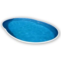 Piscina interrata AZURO 404DL ovale - 5,50 x 3,70 h.1,20 m