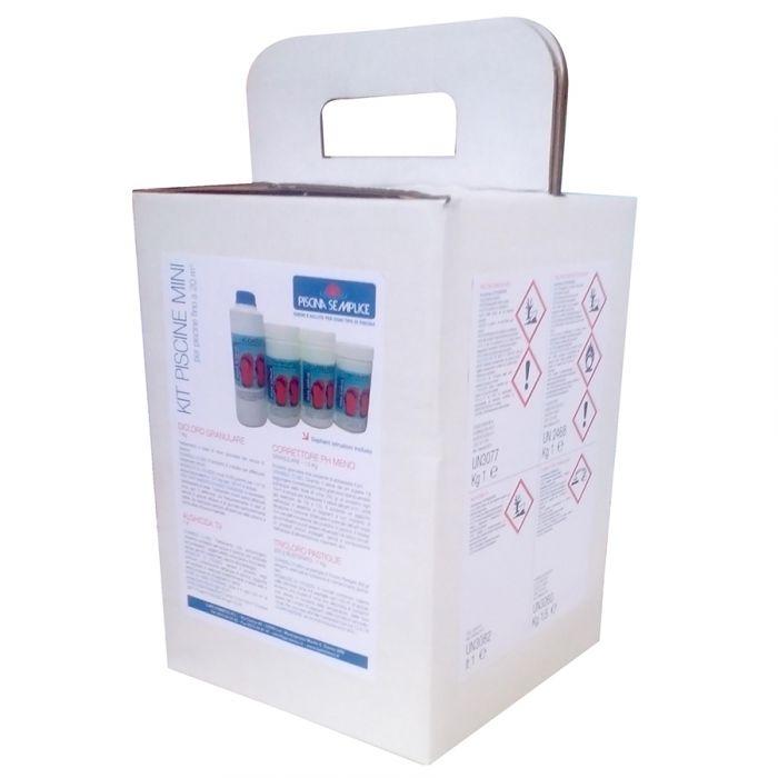 Kit mix valigetta mantenimento acqua senza cloro per for Cloro liquido per piscine