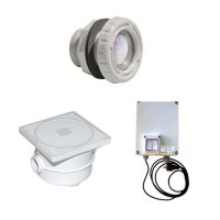 Kit 4 Mini Proiettori LED MULTICOLORE per illuminazione piscina