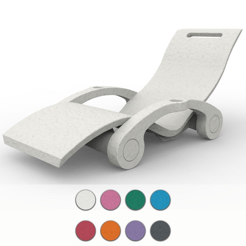Lettino piscina serendipity chaise galleggiante in polietilene - Lettini per piscina in plastica ...