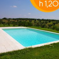 Piscina interrata in casseri di polistirolo SMOOTH BLOK Rettangolare 7,00 X 3,00 h.1,20 m