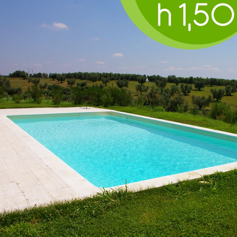 Piscina interrata in casseri smooth blok 10 00 x 5 00 h 1 for Piscina rettangolare