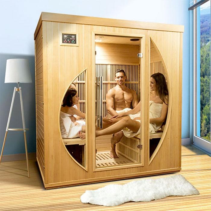 Sauna a raggi infrarossi Rowen - 4 posti  BSVillage.com