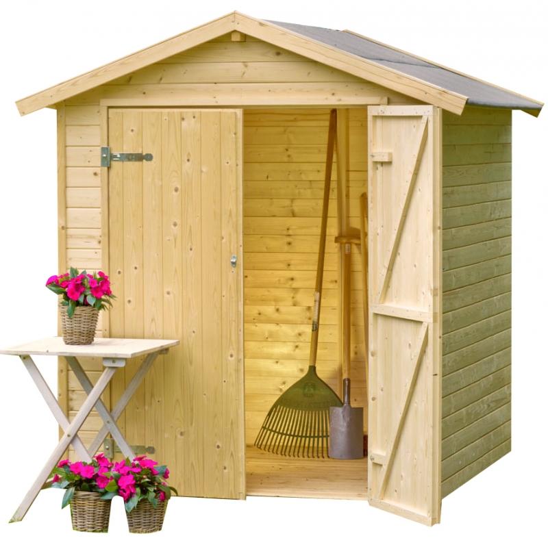 Casetta da giardino in legno narciso 1 70 x 1 20 m for Tinozze da giardino