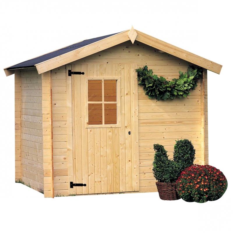 Casetta in legno cinzia 2 38 x 1 98 m da giardino for Tinozze da giardino