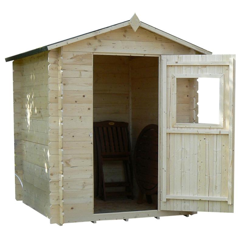 Casetta in legno willow 200x200 da giardino for Tinozze da giardino