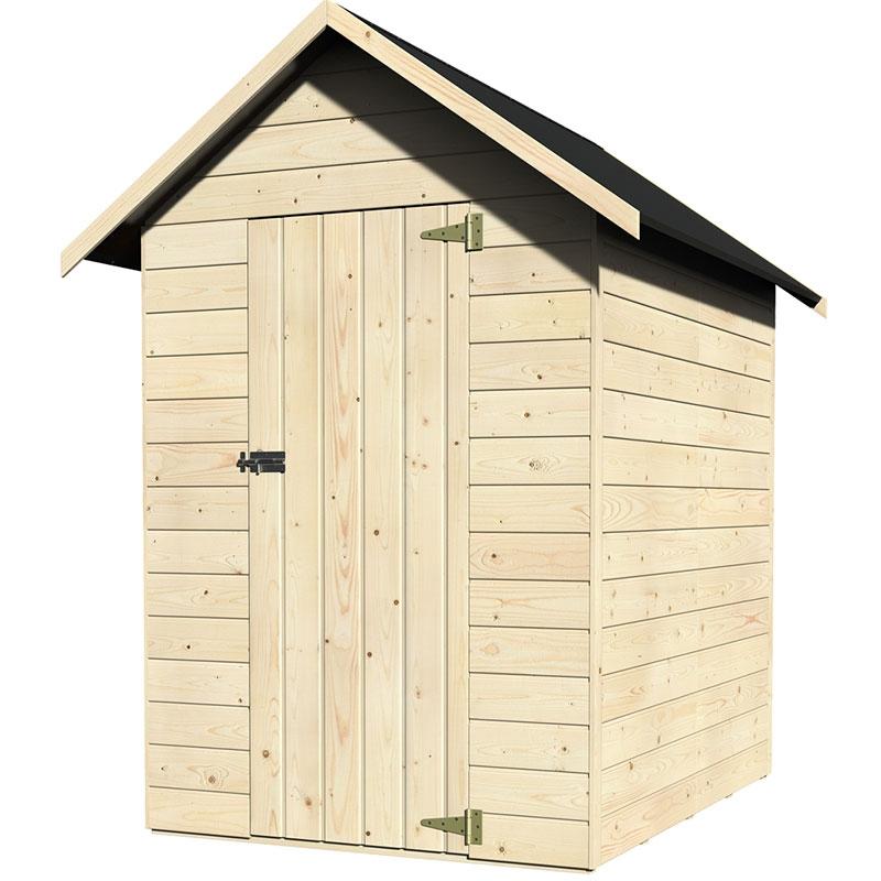 Casetta in legno amber 1 49 x 1 82 m da esterno for Tinozze da giardino
