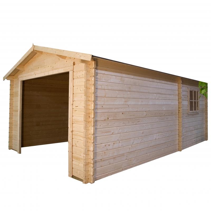 Garage box auto in legno da esterno for 2 kit da garage per auto