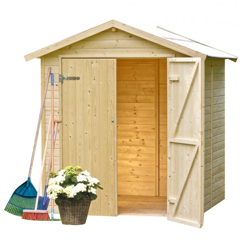 Casetta in legno silvia 1 70 x 1 80 m da giardino for Tinozze da giardino