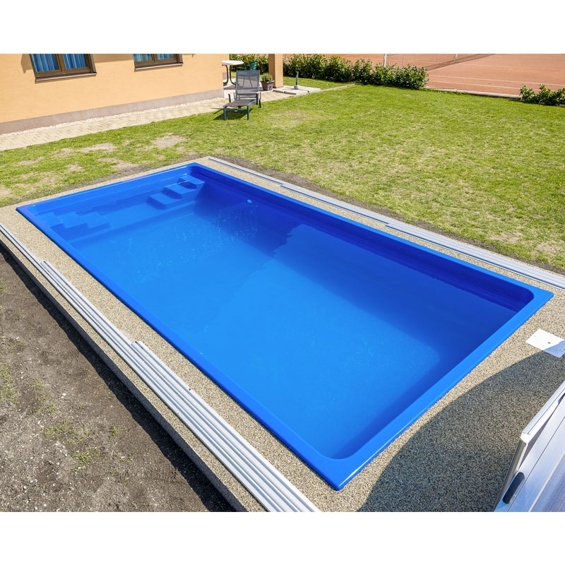 Piscina interrata in vetroresina fenix 6 00 x 3 00 h 1 20 - Piscine in vetroresina ...