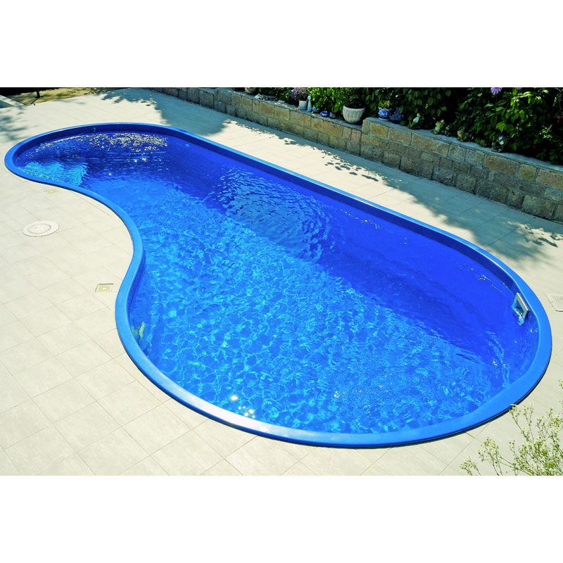 Piscina interrata in vetroresina rhodos 7 50 x 3 50 h 1 40 - Prezzi piscine interrate ...