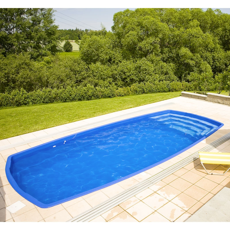 Piscina interrata in vetroresina orion 7 50 x 3 50 h 1 for Piscina fuori terra vetro