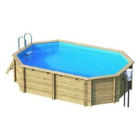 Piscina in legno EcoWood 640 - 6,27 x 3,86 x h 1,20 m