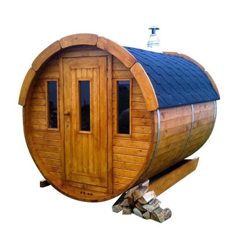 Sauna finlandese tradizionale da esterno plutone 2 4 posti 2 5 m - Sauna da esterno ...