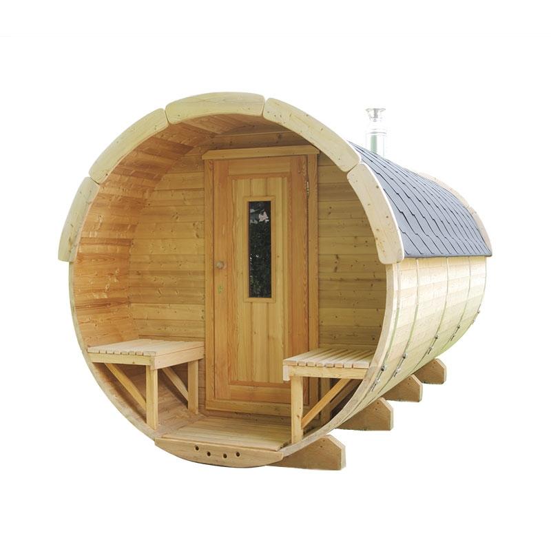 Sauna finlandese tradizionale da esterno plutone 6 8 posti 3 5 m - Sauna da esterno ...