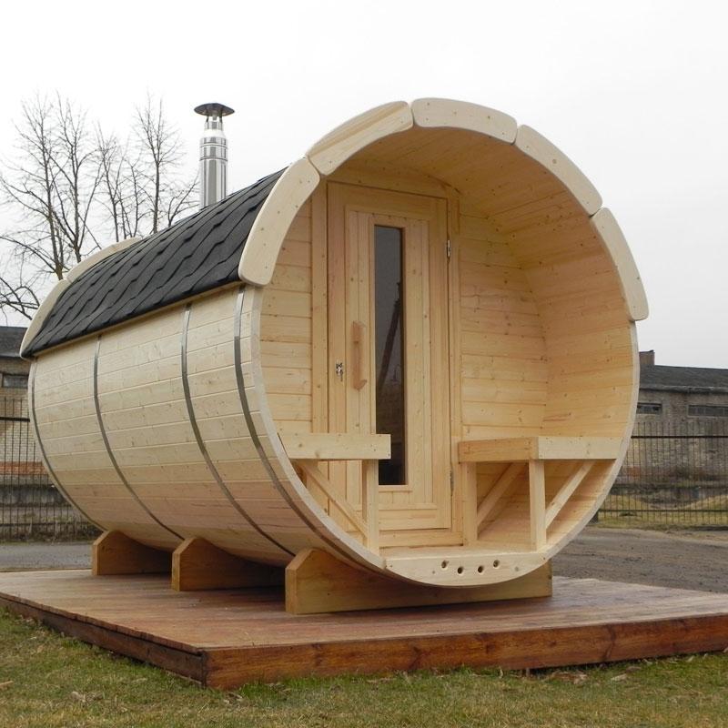 Sauna finlandese tradizionale da esterno PLUTONE 6-8 posti 4 m  BSVillage.com