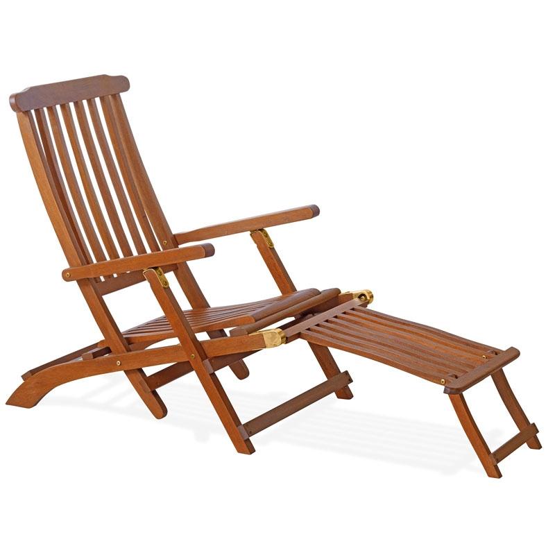 Sdraio in legno di keruing erika pieghevole con poggiapiedi - Poggiapiedi piscina ...