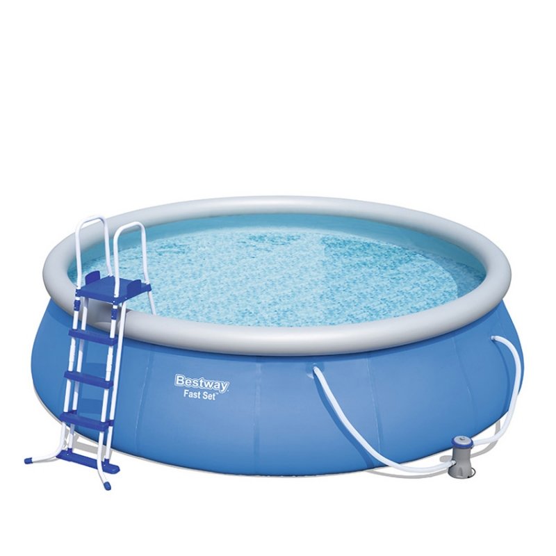 Piscina fuori terra bestway fast set 4 57 x h 1 22 m for Piscine fuori terra best way