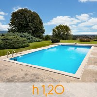 Kit componenti per piscina in cemento armato ARIZONA 6,00 X 3,00 h1,20 m