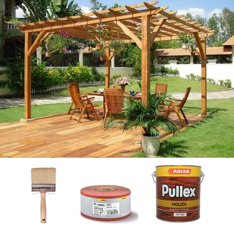 Kit di manutenzione e ripristino per arredi da giardino in for Mobili da giardino in legno